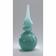 Stupa Tall Turquoise Glass Vase by Cyan Design