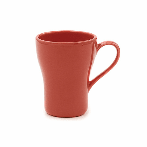 Sugar Coral Pink 12 oz Swirl Mugs (Set of 4) by Hues & Brews