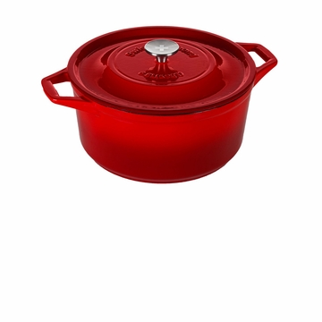 Swiss Diamond Cast Iron - Round Casserole (6.9 Qt) - Rubis Rouge
