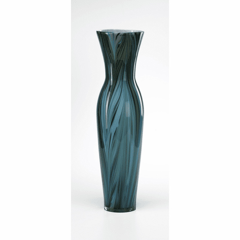Tall Peacock Glass Vase by Cyan Design