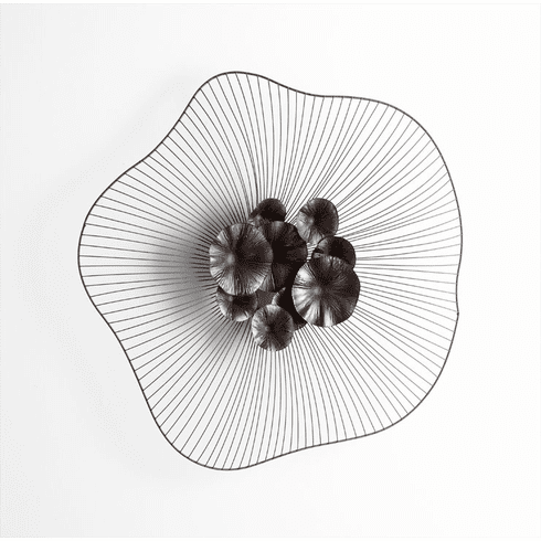 Tate large Floral Iron Wall Decor by Cyan Design