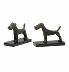 Terrier Iron and Granite Book Ends by Cyan Design