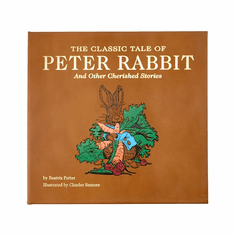 The Classic Tale of Peter Rabbit Tan Leather Bound Book