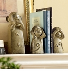 Three Wise Monkey Trio Bookend by SPI Home