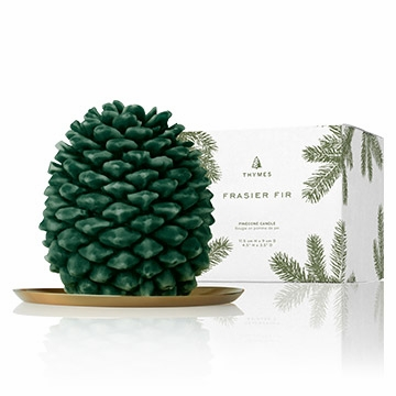 Thymes Frasier Fir Molded Pinecone Candle Petite