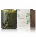 Thymes Frasier Fir Poured Candle Green Glass