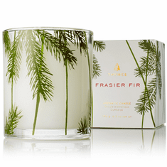 Thymes Frasier Fir Poured Candle with Pine Needle Decoration
