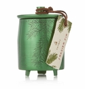 Thymes Frasier Fir Small Green Metal Tin Candle with Lid 4 oz