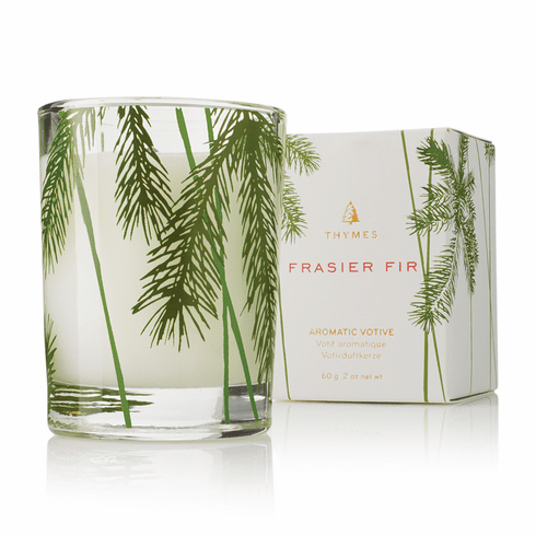 Thymes Frasier Fir Votive Pine Needle Design Candle 2 oz