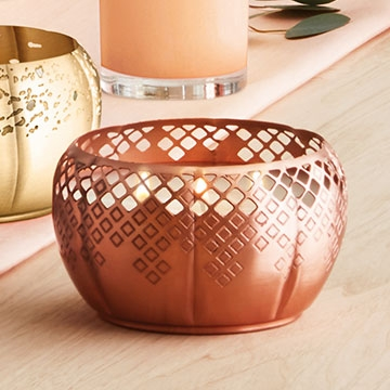 Thymes Heirloom Pumpkin Poured Candle 3-Wick Copper, 13 oz