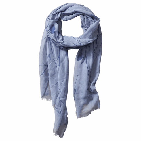 Tickled Pink Insect Shield Scarf - Blue Floral