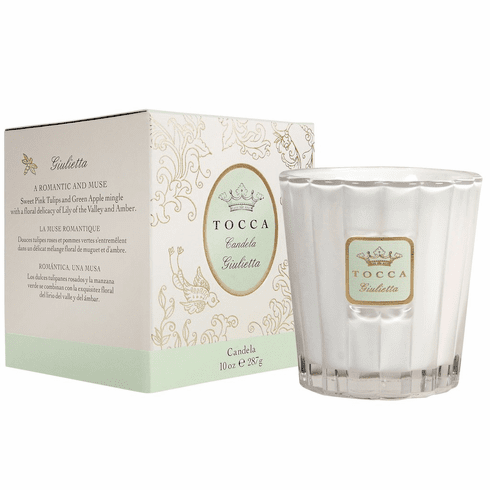 Tocca Giulietta 10oz Candela Candle - Pink Tulip & Green Apple