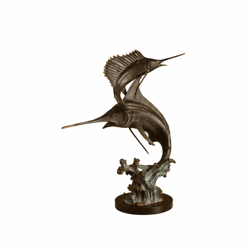 Two Bills Marlin & Sailfish Sculpture by SPI Home