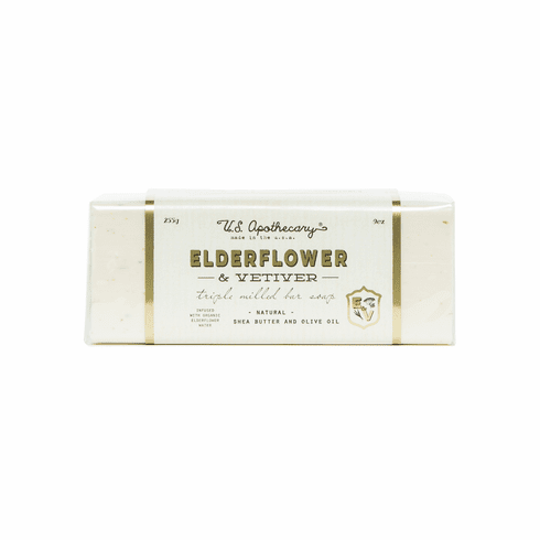 US Apothecary Elderflower & Vetiver Hand and Body Bar Soap