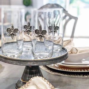 Vagabond House Glassware with Pewter Accents
