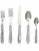 Vietri Aladdin Brilliant Light Gray Flatware