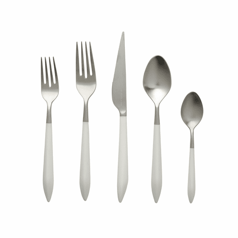 VIETRI Ares Argento & White Five-Piece Place Setting