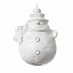 Vietri Bellezza Holiday Snowman Figural Ornament
