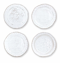 Vietri Bellezza Stone White Assorted Canape Plates � Set of 4