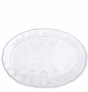 Vietri Bellezza Stone White Medium Oval Platter