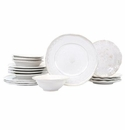Vietri Bellezza Stone White Sixteen-Piece Place Setting
