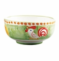 "Vietri Campagna Gallina Rooster 5"" D Cereal or Soup Bowl"