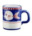 "Vietri Campagna Pesce Fish 3.5"" H 12 oz Coffee Mug"