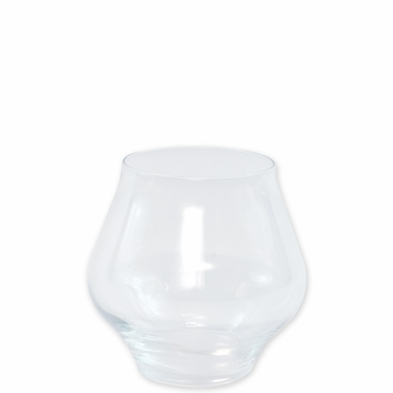 Vietri Contessa Clear Stemless Wine Glass