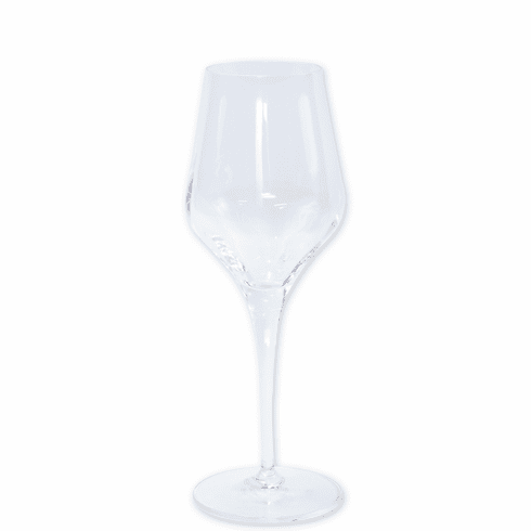 Vietri Contessa Clear Wine Glass