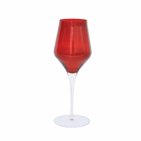 Vietri Contessa Red Wine Glass
