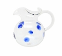 Vietri Drop Blue Three-Spout Pitcher