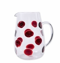 Vietri Drop Pitcher - Red