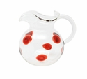 Vietri Drop Red Three-Spout Pitcher