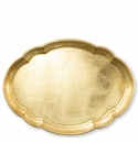 Vietri Florentine Wooden Accessories Gold Large Oval Tray