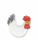 Vietri Fortunata Rooster Figural Footed Small Dipping Plate