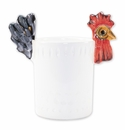 Vietri Fortunata Rooster Figural Utensil Holder