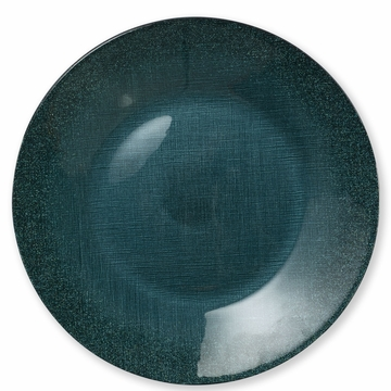 Vietri Glitter Glass Teal Service Plate/Charger