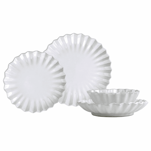 VIETRI Incanto Pleated Four-Piece Place Setting