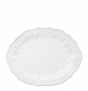Vietri Incanto Stone White Baroque Small Oval Platter