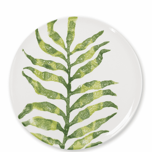 Vietri Into the Jungle Arica Palm Leaf Dinner Plate