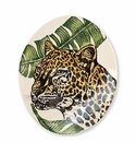 Vietri Into the Jungle Cheetah Oval Platter