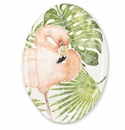 Vietri Into the Jungle Flamingo Large Oval Platter