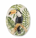 Vietri Into the Jungle Toucan Oval Platter