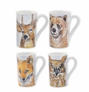 Vietri Into the Woods Assorted Mugs - Set of 4