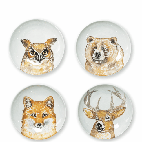 Vietri Into the Woods Assorted Pasta Bowls - Set of 4