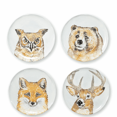 Vietri Into the Woods Assorted Salad Plates - Set of 4