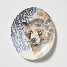 Vietri Into the Woods Bear Oval Platter