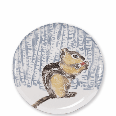 Vietri Into the Woods Chipmunk Small Platter