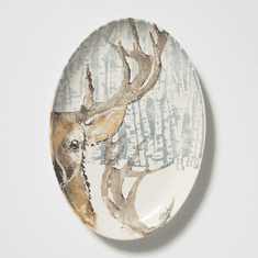 Vietri Into the Woods Deer Oval Platter