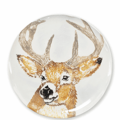 Vietri Into the Woods Deer Salad Plate